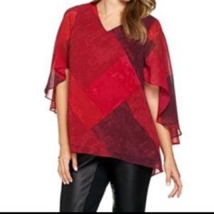 H by Halston cape top